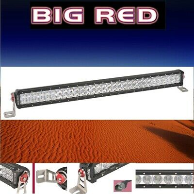 "Big Red LED Double Row Light Bar 32"" (813mm) 14000 Lumen 60 x 3W Combo beam BR92"