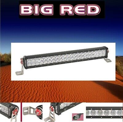 "Big Red LED Double Row Light Bar 24"" (610mm) 9800 Lumen 42 x 3W Combo beam BR922"