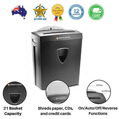 Paper Shredder Electric Cross Cut Home Office 22L 7 A4 Sheet Credit Card CD DVD