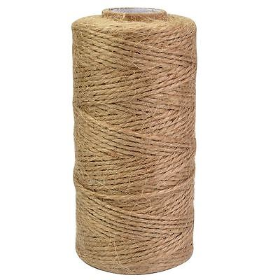 120M Natural Jute Twine Roll DIY Wrap Gift Hemp Rope Cord String Roll