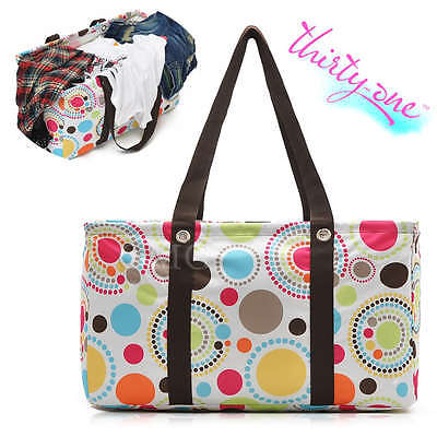 Thirty One Large Capacity Beach Laundry Market Picnic Bag Pouch Tote Useful HOT