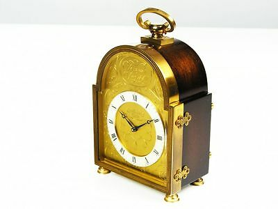 Old Beautiful Chiming Desk Clock From Junghans Meister Germany