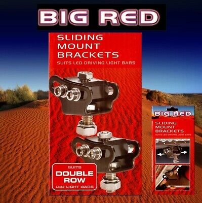 Big Red Sliding Mount Brackets Suits Double Row Big Red LED Light Bars BR9080