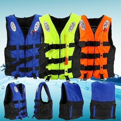 Polyester Adult  Kids Swim Buoyancy Aid Sailing Foam Life Jacket Vest & Whistle