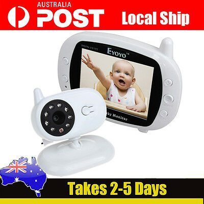 "3.5"" Digital 2.4G Wireless LCD Baby Kid Monitor Safety Camera Night Vision Video"
