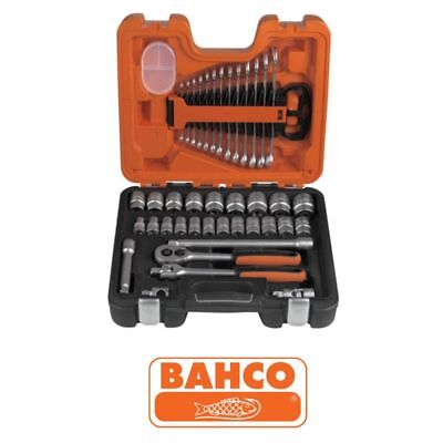 Bahco BAHS400 Socket and Spanner Set of Metric 1/2in Drive S400 40 Pieces