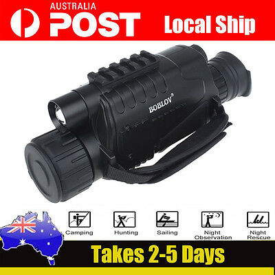 NEW Tactical IR Infrared Night Vision Monocular Scope 200m 5X40 Zoom Record DVR