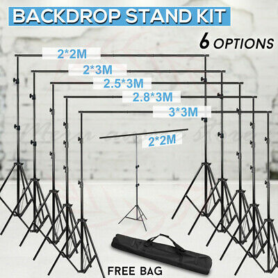 Adjustable Photography Photo Studio Backdrop Background Support Stand Kit W/ Bag
