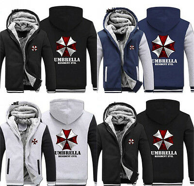 New Cosplay Hooded Sweater Anime Resident Evil Umbrella Thickening Hoodie Jacket
