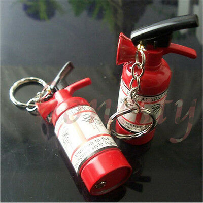 1pc Mini Extinguisher-Lighter Fire Refillable Butane Gas Flame Cigarette Smoke