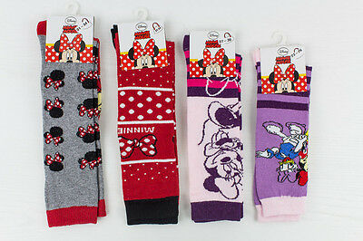 N. 4 Paia Calze Lunghe Disney Minnie Mouse