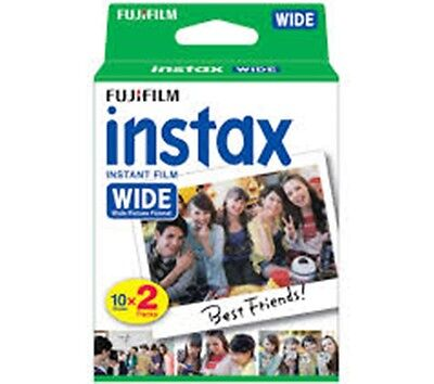 Fujifilm Instax Wide Film Instant Color 200 210 300 Camera 2 Packs (20Sheets)