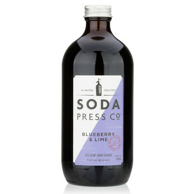 NEW Soda Press Co Blueberry & Lime Syrup 500ml
