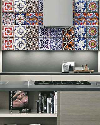 Kitchen wall Mural tile Stickers Set home decor DIY Kitchen bathroom Vintage S1