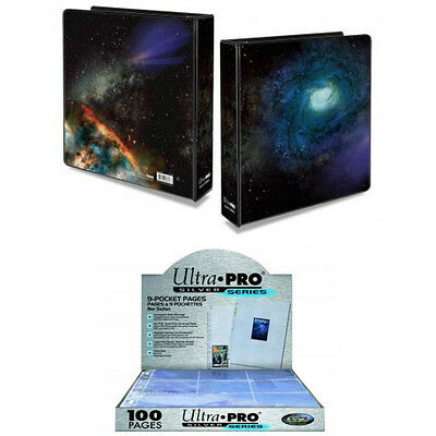 "Ultra Pro Galaxy Series - 2"" Galaxy 3-ring album and 100/Box 9-pocket pages"