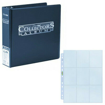 Blue Ultra PRO 3 Inch Ring Album Folder - With 50 Silver 9-Pocket Pages