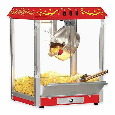 Big Top Movie Theater Style Tabletop Popcorn Machine Scoop Shaker Red BW825CR