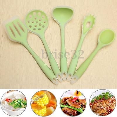 5Pcs Silicone Cooking Utensil Set Set Kitchen Cooking Tools Spoon Spatula Ladle