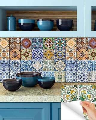 Kitchen Wall Mural DIY Set tile Stickers home decor bathroom stickers tiles HA4