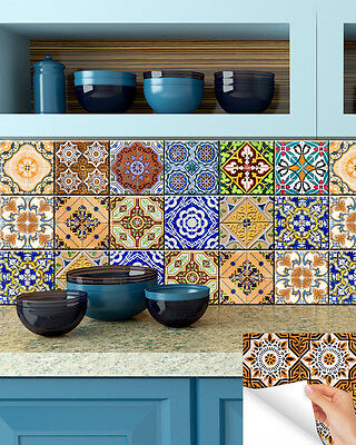 Kitchen wall Mural DIY Set tile Stickers home decor Stairs Bathroom sticker HA6