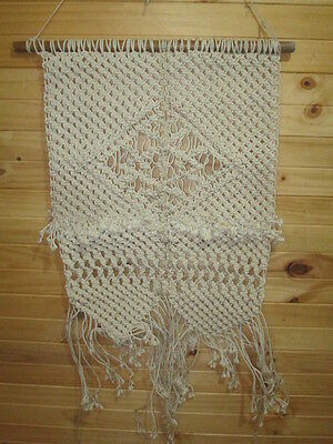 Macrame wall hanging handmade cotton cords