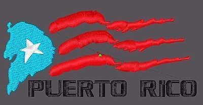Embroidery Design digitized Flag Puerto Rico file pes dst almost any format