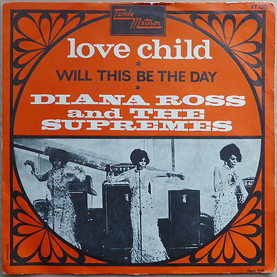 Diana Ross & The Supremes - Love Child - France 1968 - TOP RAR - VG+(+)
