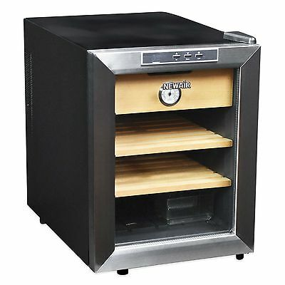 NewAir Thermoelectric 250 Count Cigar Humidor 2 wooden drawers 1 cabinet CC-100