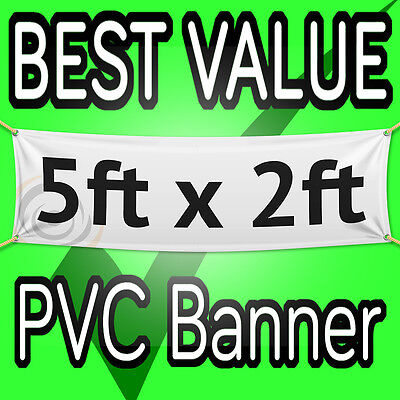 5ft x 2ft OUTDOOR PERSONALISED PRINTED PVC BANNERS  VINYL BUSINESS ADVERTISING