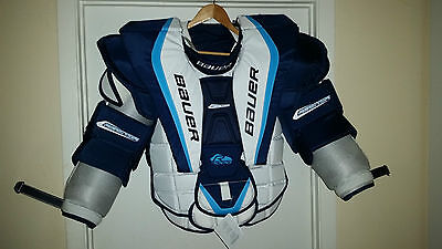 BUAER CCM Goalie Chest & Arm protector, Helmet & neck guard Senior ( Sr )