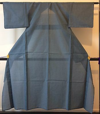 Authentic Japanese summer see through kimono for women,light blue(G335)