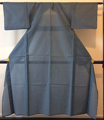 Authentic handmade Japanese summer see through kimono for women,light blue(G335)