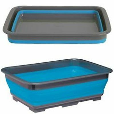 Summit POP! Camping Folding Wash Basin Round or Oblong Green or Blue