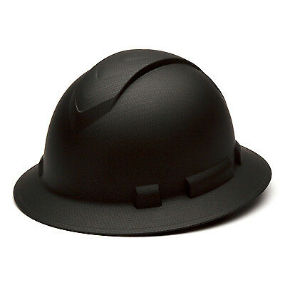 Pyramex Ridgeline Hard Hat Graphite Pattern Black Full Brim Ratchet, HP54117