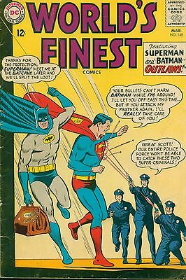 """DC (1965) WORLD'S FINEST #148 - """"Superman and Batman...Outlaws!"""" --  3.5/VG-"""