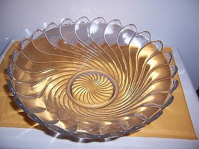 "fostoria colony # 2412 crystal 105/8""wide    3 1/4"" tall fruit bowl   excellent"