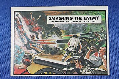 1962 Topps Civil War News - #48 Smashing The Enemy - Ex/Mt to NrMt Condition