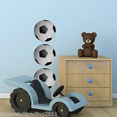 Pack of 3 Football Wall Stickers