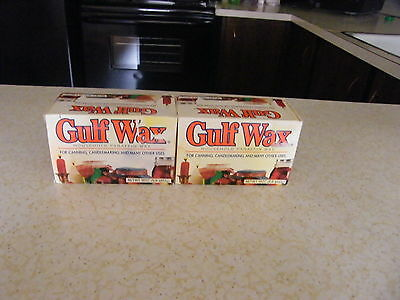 2--Gulf Wax Household Paraffin Wax for Canning, Candlemaking, Crafts total 2 lbs