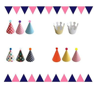 11 Stylish Crown Happy Birthday Party Silver Shimmer Paper Cone Hats Fun Game