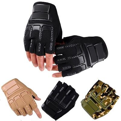 Outdoor Tactical Military Working Half Racing Cycling Finger Fingerless Gloves