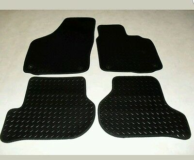 VW Golf MK6 2009-12 Fully Tailored Deluxe RUBBER Car Mats in Black