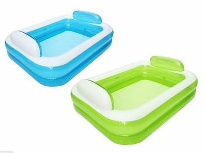 Loving couple Pool Rectangle INFLATABLE green or blue 150 cm