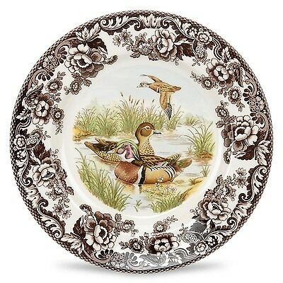"Spode Woodland Wood Duck 8"" salad plate New made in England"