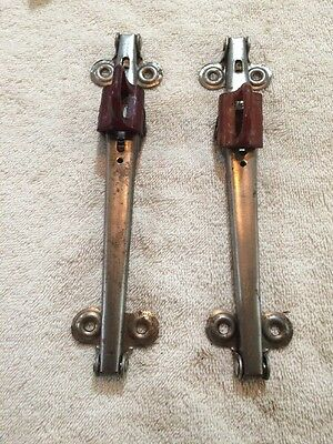 "Pair Of Vintage New Old Stock Walter Of Wabash 8"" Drop Leaf Table Hinges"