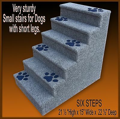Pet Stairs  for dogs w/ short legs, 6 Steps, Dog Steps, Pet Stairs, Pet Ladder.