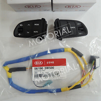 2011-2015 KIA SPORTAGE OEM Auto Cruise Audio Switch + Ext Wire 3pcs Set