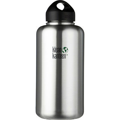NEW Klean Kanteen CLASSIC Stainless Steel 64 Ounce Wide Mouth Water Bottle