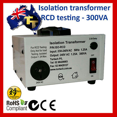 Isolation transformer - RCD/GFI testing 300W 1A
