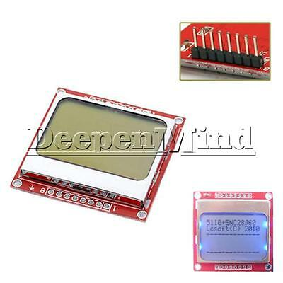 84x48 LCD Module Blue Backlight Adapter PCB For Nokia 5110 Arduino 84*48